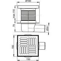 Alca 469/5000 Siphon for bathtub, drain (A501)