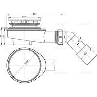 Alca Ultra flat shower drain (A491CR)