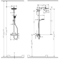 Hansgrohe Crometta S 240 Shower column 1 jet, with Thermostatic mixer, Chrome (27267000)
