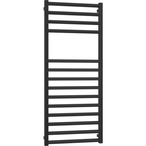 Radiateur sèche-serviettes noir mat Ercos Square   H1500 L500 INT470
