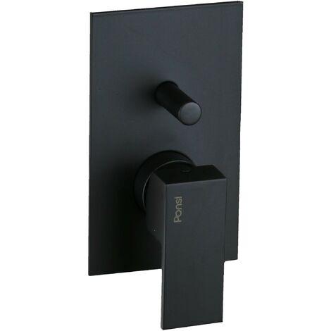 Mitigeur de douche à encastrer 2 voies noir mat Ponsi Italia R BTITRKIN04 | Noir mat - 2 sorties
