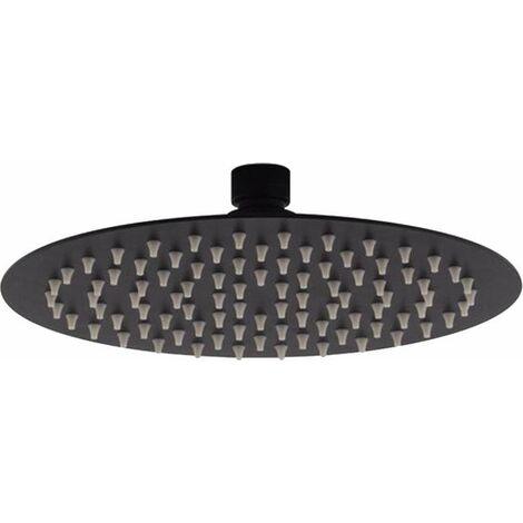 Pomme de douche ronde noire mat Piralla Rubinetterie LRNR   Noir mat - Ø 200 mm