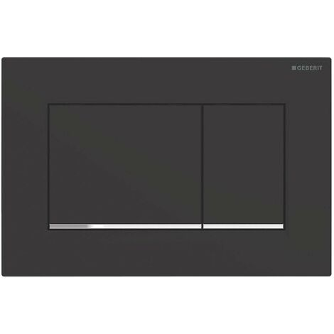 Plaque de chasse d'eau à double bouton Geberit Sigma 30 | Noir
