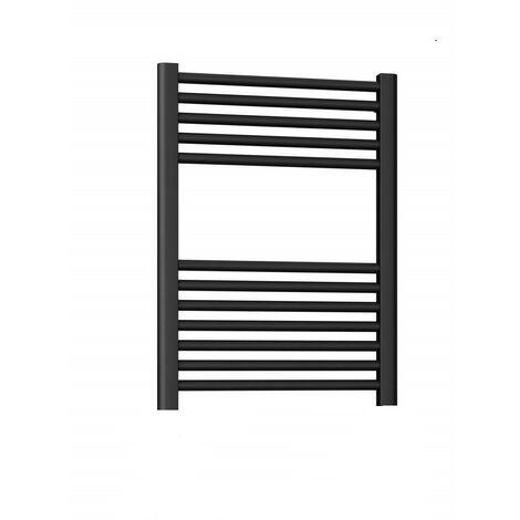 Sèche-serviettes noir mat, modèle rond Ercos Opera   H770 L500 Z 450