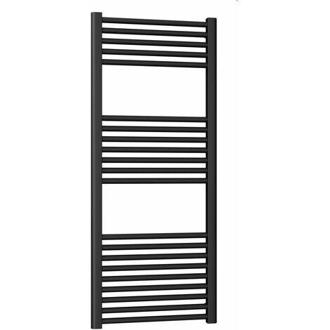 Sèche-serviettes noir mat, modèle rond Ercos Opera | H1500 L500 Z450