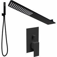 Kit de douche avec pomme de douche murale noir mat Ponsi BNKISK0006   Noir mat