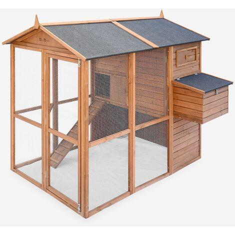 Gallinero de madera America, de 6 a 8 gallinas - America - Madera