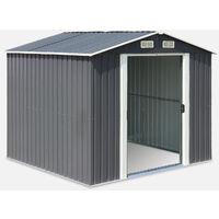 Caseta de metal - Cabaña de herramientas con dos puertas correderas grandes - ARTOIS 5 m² antracita - - antracita