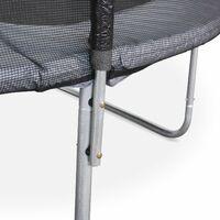 Cama elástica 305 cm, Trampolín para niños, aguanta hasta 150 kg (estructura reforzada)-MARS - Gris