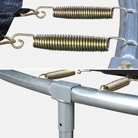 Cama elástica 180 cm, Trampolín para niños, Gris, altura de la red de seguridad 150 cm - Cassiope - Gris