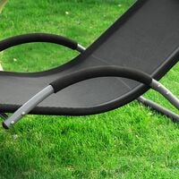 SoBuy Sonnenliege Gartenliege Relaxstuhl Liegestuhl mit Kopfkissen OGS38-SCH