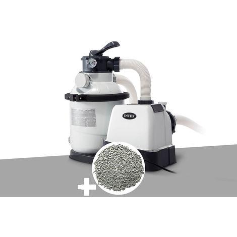 Groupe de filtration à sable 4 m³/h + 10 kg de zéolite - Intex