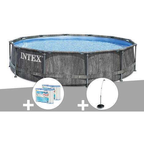 Kit piscine tubulaire Intex Baltik ronde 5,49 x 1,22 m + 6 cartouches de filtration + Douche solaire