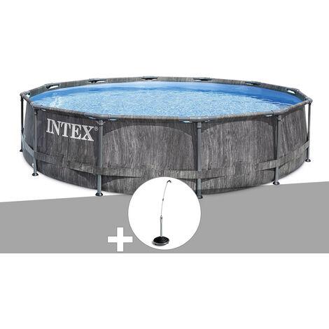 Kit piscine tubulaire Intex Baltik ronde 5,49 x 1,22 m + Douche solaire