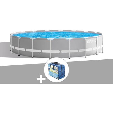 Kit piscine tubulaire Intex Prism Frame ronde 5,49 x 1,22 m + Bâche à bulles