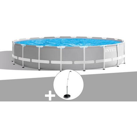 Kit piscine tubulaire Intex Prism Frame ronde 5,49 x 1,22 m + Douche solaire