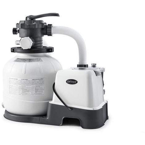 Combiné groupe de filtration à sable 6 m³/h + stérilisateur au sel + système OEC - Intex