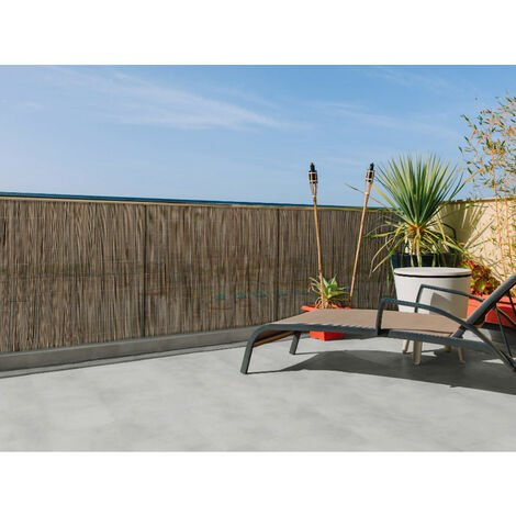 Canisse synthétique, imitation osier naturel FENCY WICK - Marron - 1,5 x 3 m