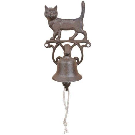 Cloche de porte en fonte Petit chat