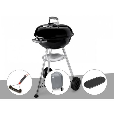 Barbecue Weber Compact Kettle 47 cm + Brosse + Housse + Plancha