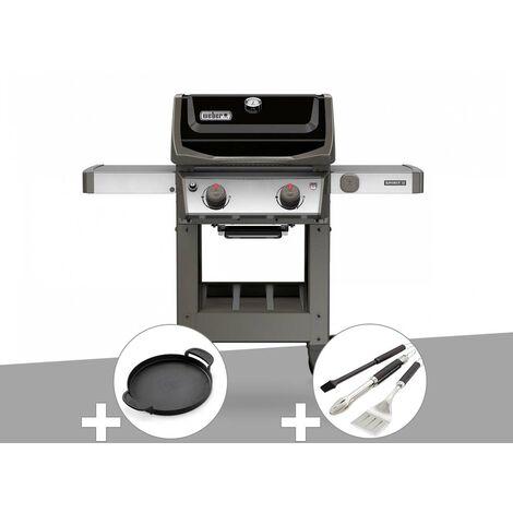 Barbecue gaz Weber Spirit II E-210 GBS + Plancha + Kit ustensiles 3 pièces Better