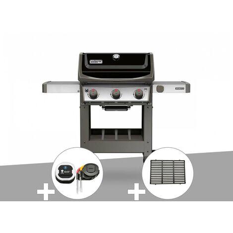 Barbecue gaz Weber Spirit II E-310 + plancha + Thermomètre iGrill 3 + 1/2 grille de cuisson