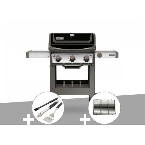 Barbecue gaz Weber Spirit II E-310 + plancha + Kit ustensiles 3 pièces Better + 1/2 grille de cuisson
