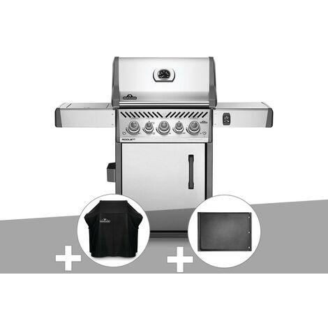 Barbecue à gaz Napoleon Rogue SE 425 inox 3 brûleurs + Housse de protection + Plancha