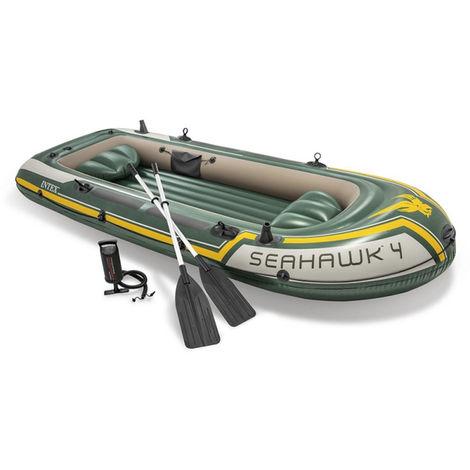 Kit Bateau Gonflable 4 Places Seahawk 4 Avec Rames Et Gonfleur Intex