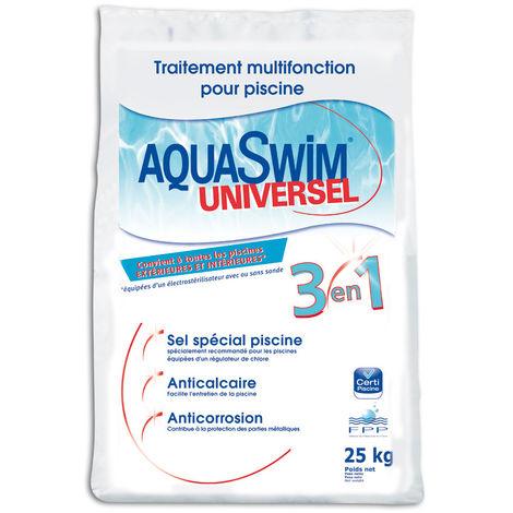 Sel de piscine 3 en 1 Universel 25 kg - Aquaswim
