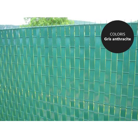 Lanière PVC pour palissade largeur 47 mm x 60 m+100 clips- Vert Foncé