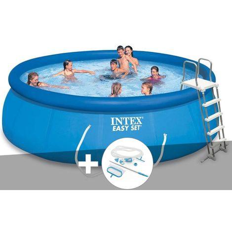 Kit piscine autoportée Intex Easy Set 4,57 x 1,22 m + kit d'entretien - Intex