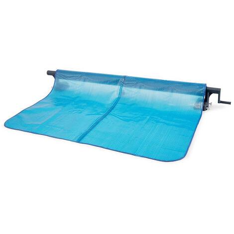 Enrouleur + Bâche à bulles pour piscine tubulaire rectangulaire 7,32 x 3,66 m - Intex