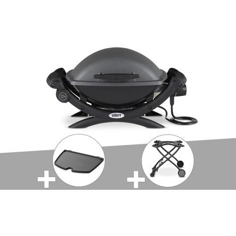 Barbecue électrique Weber Q 1400 + Plancha + Chariot