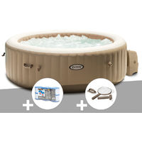 Kit spa gonflable Intex PureSpa Sahara rond Bulles 6 places + 6 filtres + Kit d'entretien