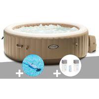 Kit spa gonflable Intex PureSpa Sahara rond Bulles 6 places + Aspirateur + Kit traitement brome