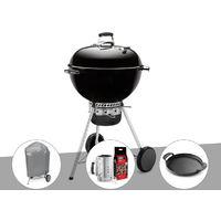 Barbecue Weber Master-Touch GBS 57 cm Noir + Housse + Kit Cheminée + Plancha