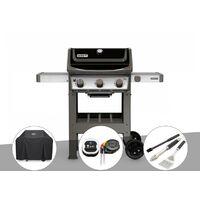 Barbecue gaz Weber Spirit II E-310 + plancha + Housse + Thermomètre iGrill 3 + Kit ustensiles 3 pièces Better