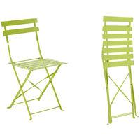 Chaise métal jardin pliante Verte Camargue de 8PyOmnwvN0