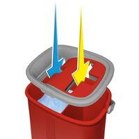 Balai Smart Compact rouge   Balai serpillere professionne avec seau essoreur   Balai magique   Serpiere seau essoreur - Rouge - Rouge