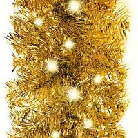 Guirlande de Noël avec lumières LED 10 m Doré