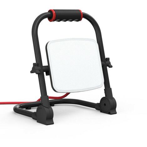 XANLITE - Projecteur de Chantier LED Filaire, Tête Pivotante, 50 W, 2100 Lumens - PR50WF