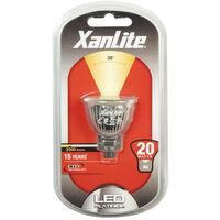 XANLITE - Ampoule LED spot, culot G4, 4W cons. (20W eq.), lumière blanche chaude - ALMR11200
