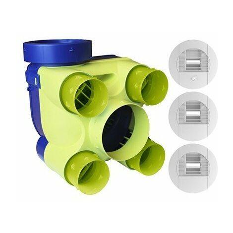 Kit VMC Hydra Ecowatt 2 - Simple flux hygroréglable - 262m³/h - 32dB - Avec bouches à piles