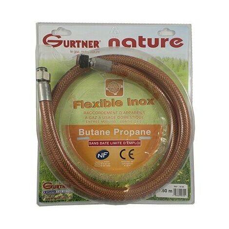 Flexible INOX femelle - Gaz naturel - Ecrou 20x150 - 1m