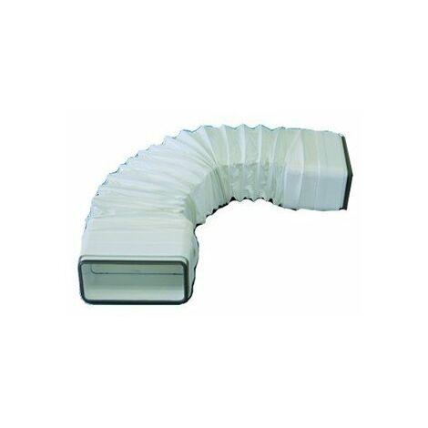 Tube souple à joints rectangulaire TFRV 100 pour conduit PVC Rigide - Ultra-plat 55 x 110 mm