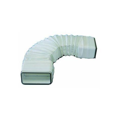 Tube souple à joints rectangulaire TFRV 125 pour conduit PVC Rigide - Ultra-plat 55 x 220 mm