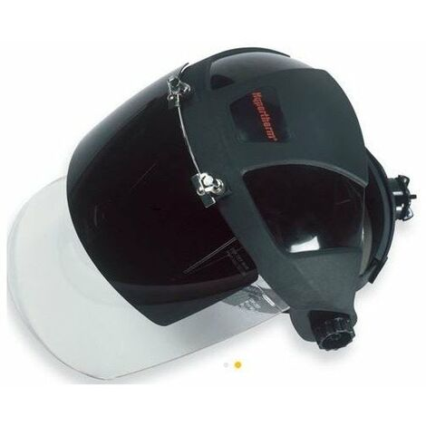 Masque de protection faciale pour soudage plasma - Avec visière basculante - Teinte 6 - Noir et blanc