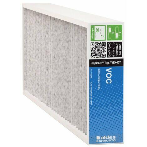 Filtre particule COV ePM2.5 InspirAIR® Top d'Aldes - Pli 48mm - Blanc