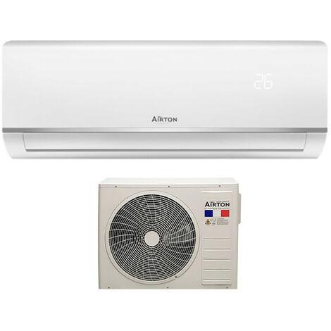 Climatiseur réversible Monosplit + Pompe à chaleur Airton - Fluide R32 - 3400W - 40m²